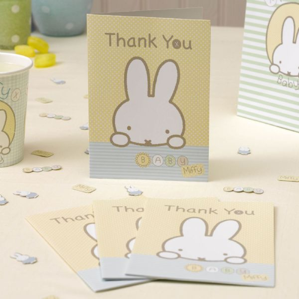 Baby Miffy Thank You Cards (10)